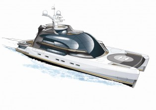 View large version of image: BMT Nigel Gee and Claydon Reeves present the 55m superyacht Project Oxygen