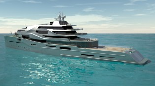 View large version of image: ICON Yachts and Impossible Productions Ink LLC megayacht EXPOSE concept