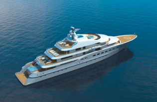 View large version of image: The latest 67m megayacht Amels 272 LE designed by Tim Heywood