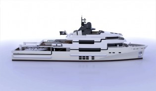 View large version of image: Newcruise designed 45m Power Explorer Yacht TUG