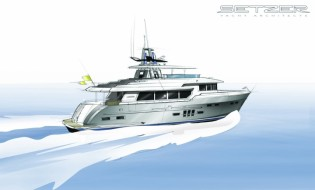 View large version of image: The splendid 27-metre superyacht LOGOS SD designed by Setzer Yacht Architects
