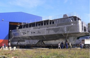 View large version of image: The splendid 33-metre Alu Marine superyacht Cosmoledo launched