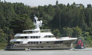 View large version of image: Alloy Yachts launch superyacht CaryAli (Project AY44) managed by MCM