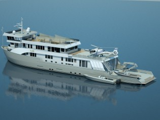 View large version of image: Expedition charter yacht SuRi completes sea trials