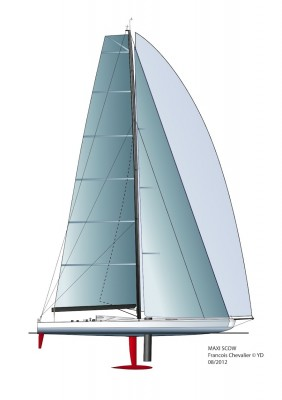 View large version of image: Maxi Scow and WallyCento yacht concepts by Francois Chevalier