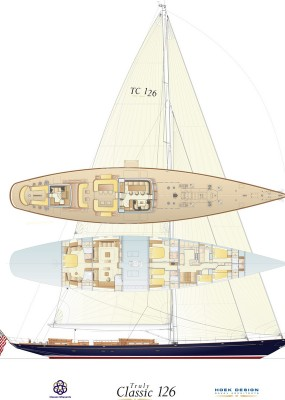View large version of image: Hoek designed Truly Classic yacht TC126 with launch in 2015