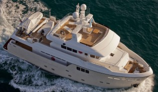 View large version of image: Debut of the Darwin Class 86' yacht PERCHERON by Cdm Yachts at the 2012 FLIBS