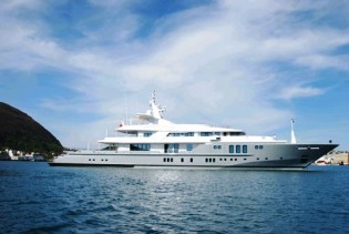 View large version of image: Megayacht SIREN returns to Nobiskrug for 5 years' class survey
