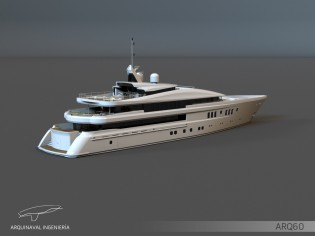 View large version of image: Arquinaval presents its new 60m megayacht ARQ60 concept