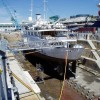 Refit of the 58m luxury charter yacht Lady K II at Solent Refit