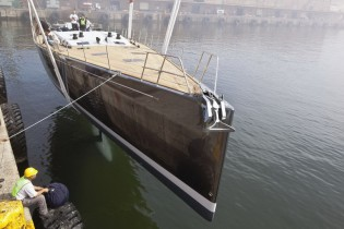 View large version of image: Southern Wind launches second SW94 superyacht WINDFALL