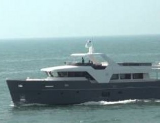 View large version of image: Launch and sea trials for Monte Fino ecHo 85 yacht designed by Humphreys