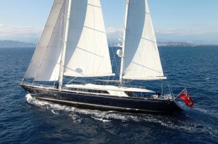 View large version of image: Spectacular Perini Navi SILENCIO superyacht (ex Perseus) available for yacht charter holidays in the Caribbean