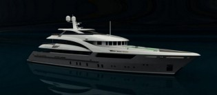 View large version of image: Sarp Yacht working on the first SARP 46 m superyacht