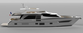 View large version of image: Couach Yachts building the modern and sporty 2600 Fly yacht