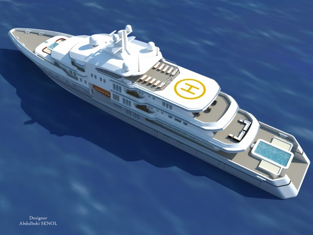 View large version of image: Mega Yacht Concept 90