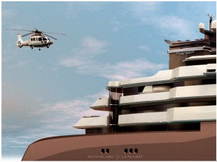 View large version of image: Nuvolari Lenard designed 122m Oceanco megayacht PA122 concept