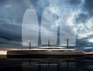 View large version of image: Oceanco's New SOLAR Yacht Project - World's Largest Sailing Yacht