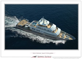 View large version of image: Sergio Cutolo designed 55m expedition yacht Project 0198 - HT