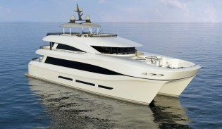 View large version of image: 33 m Curvelle Yacht QUARANTA to feature glass elevator by Lift Emotion