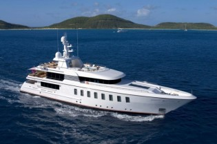 View large version of image: Feadship launch BLUE SKY superyacht