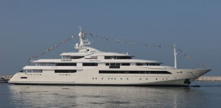 View large version of image: All-new 80m CRN 129 yacht CHOPI CHOPI launched by CRN Ancona