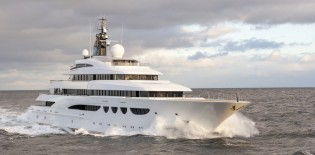 View large version of image: Mega yacht QUATTROELLE delivered by Lurssen