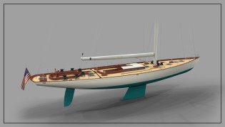 View large version of image: W.100' Yacht by W-class Yachts to be constructed by Front Street Shipyard