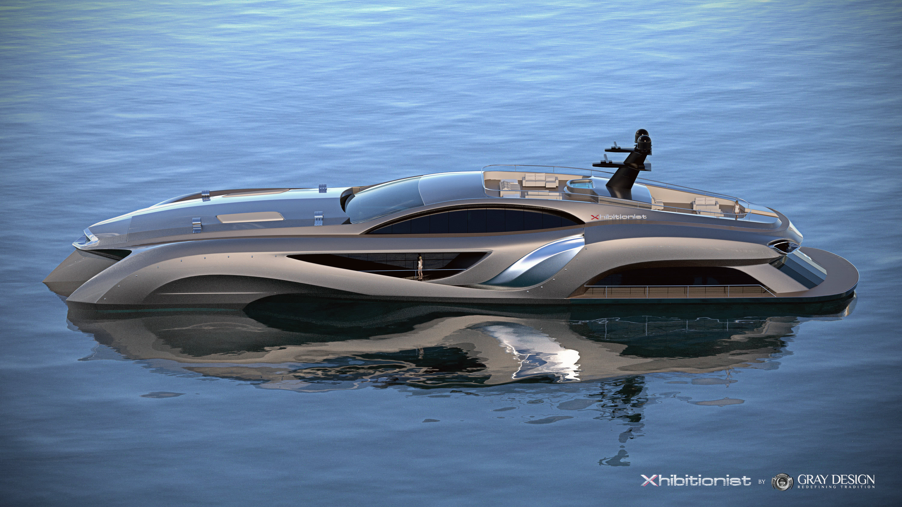 View Large Version Of Image Eduard Gray Designed 75 Metre Mega Yacht XHIBITIONIST Concept