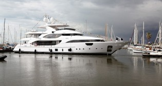 View large version of image: Benetti launch second Crystal 140 superyacht LUNA