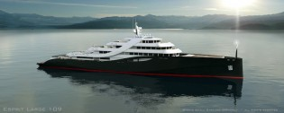 View large version of image: Mauro Sculli designed 109m mega yacht ESPRIT LARGE 109