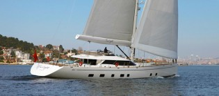 View large version of image: Client sailing and acceptance trials for Oyster 125 superyacht TWILIGHT
