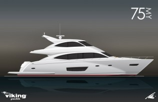 View large version of image: New Viking 75 Yacht to be delivered in early fall 2014