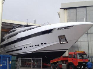 View large version of image: Luxury yacht PARAM JAMUNA IV (hull FR027) launched by Rossinavi