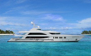 View large version of image: New 59m Yacht Hull T-062 signed by Trinity Yachts
