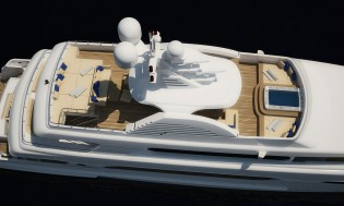 View large version of image: New 45m Sunrise Yacht Project SUNSET available for sale