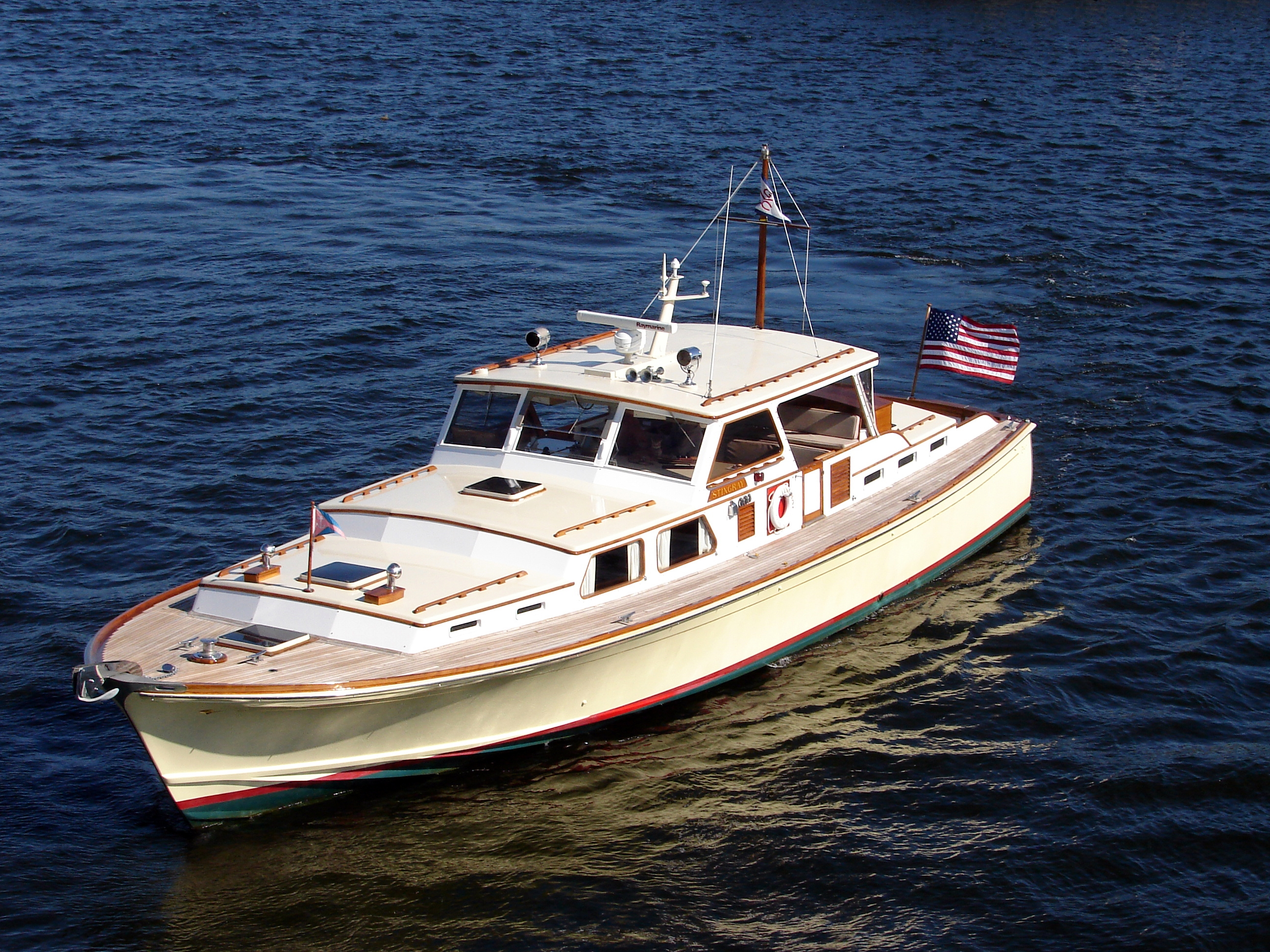 "Classic Yacht ""STINGRAY"", 55′ 1964 C  Raymond Hunt Design For Sale"