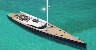 View large version of image: Christopher Seymour Designs' New 44m Yacht AMOR FATI Concept