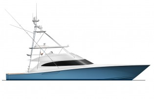 View large version of image: Viking Yachts starts working on latest Viking 92 Convertible Yacht