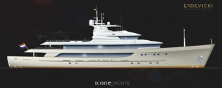 View large version of image: Ivan Erdevicki's 59m superyacht conversion design for ICON Yachts