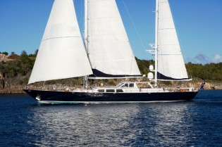 View large version of image: Charter Yacht AXIA wins St Barths' Bucket awards and is now ready for charter in New England