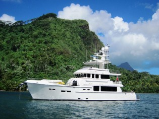 View large version of image: South Pacific charter aboard 24 m luxury motor yacht Beyond Capricorn