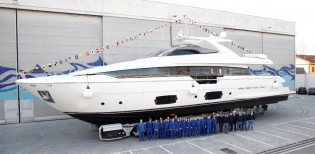 View large version of image: Luxury motor yacht Ferretti 960 launched by Ferretti Yachts