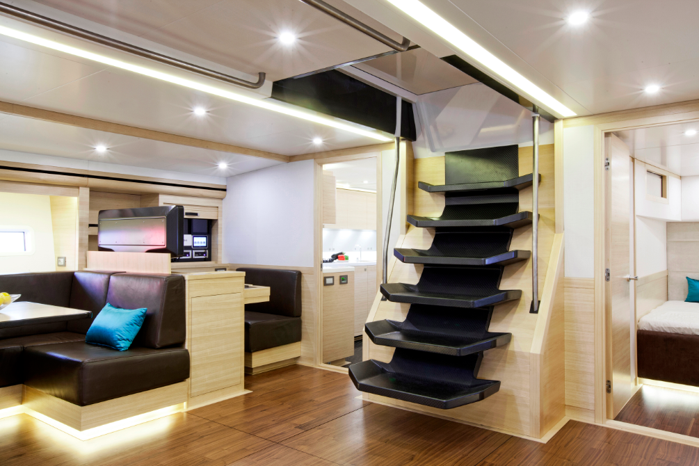 View Large Version Of Image IYA Award 2013 For WallyCento Superyacht HAMILTON Luxury Sailing Yacht Hamilton Features Interior