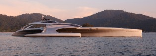 View large version of image: McConaghy trimaran yacht ADASTRA Finalist for World Superyacht Award 2013