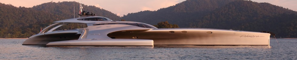 McConaghy trimaran yacht ADASTRA Finalist for World Superyacht Award 2013