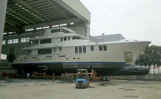View large version of image: First Nordhavn 120 superyacht AURORA to be delivered this summer