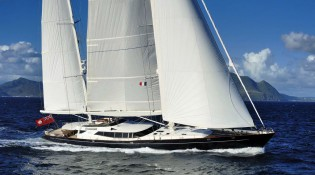 View large version of image: Two-year World Tour for the 53m Alloy superyacht DRUMBEAT (ex Salperton)