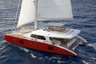 View large version of image: Delivery of Sunreef 70 sailing yacht FENG