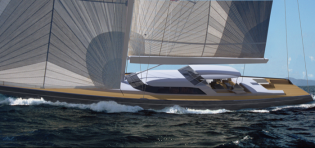View large version of image: New 43m superyacht BLUE PAPILLON (hull 391) launched by Royal Huisman